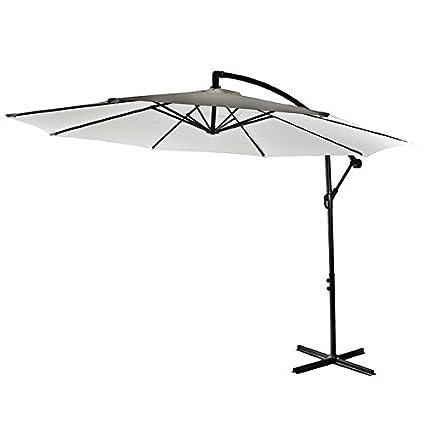 SG - Sombrilla de jardín de 300 cm. De acero y color crudo