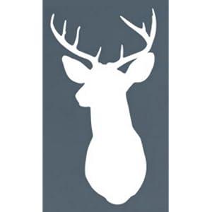 Wall Hugs Deer Silhouette Head Mount Wall Decal