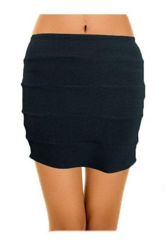 Women mini rib stretchy skirt (Medium / Large (UK 10-12))