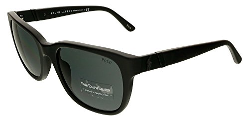 Polo Ralph Lauren 0PH4066 52848755 Square Sunglasses,Matte Black,55 mm