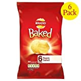 Walkers Baked Ready Salted Crisps 6 X 25G