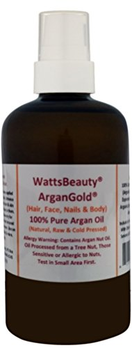 Watts Beauty ArganGold 100% Pure Argan Oil for Hair, Nails