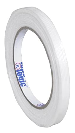 "Tape Logic 1400 Industrial Grade Filament Tape, 156 lbs Tensile Strength, 60 yds Length x 3/8"" Width, Clear (Case of 96)"