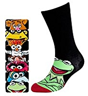 7 Pairs of Cotton Rich Assorted Muppets Socks