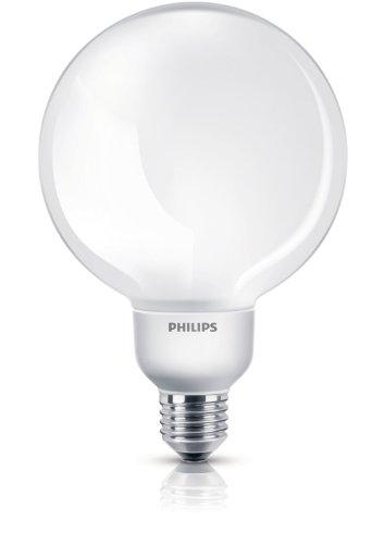 Philips Lampadina a Risparmio Energetico Globo 23 W Corrispondenti a 100 W, Attacco Grande E27, Luce Bianca Calda