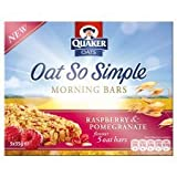 Quaker Oats Oat So Simple Raspberry & Pomegranate Bars 5 X 35G