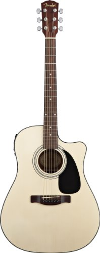 Fender CD-60CE Dreadnought Cutaway Acoustic-Electric Guitar - Natural