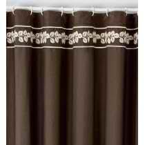 Amazon.com - Castana Bordado Shower Curtain -
