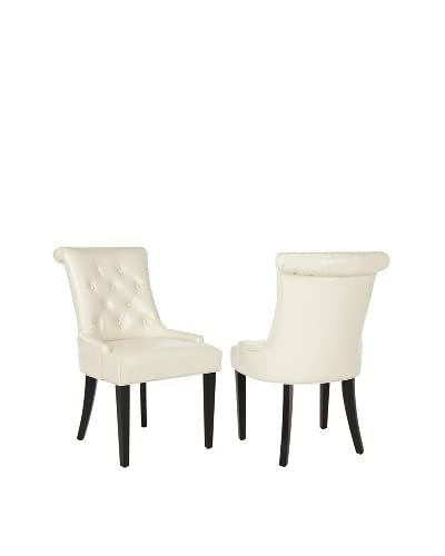 Set of 2 Bowie Side Chairs, Cream