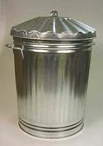90 litre Metal Galvanised Dustbin/Bin (Made In The U.K)