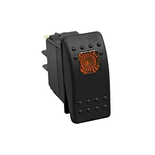 20-amp-12v-Illuminated-Rocker-Switch-MomentaryOff-Orange-Sand-Rail-UTV-Truck