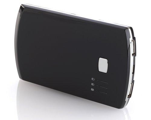 deleyCON Powerbank 5600 mAh USB Akku - externes Akku Ladegerät - für Handy, Smartphone, Tablet - [Schwarz]