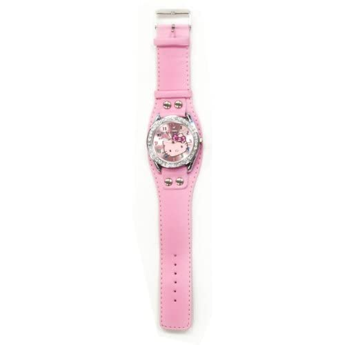 Hello Kitty Child Wrist Watch Pink With Crystals