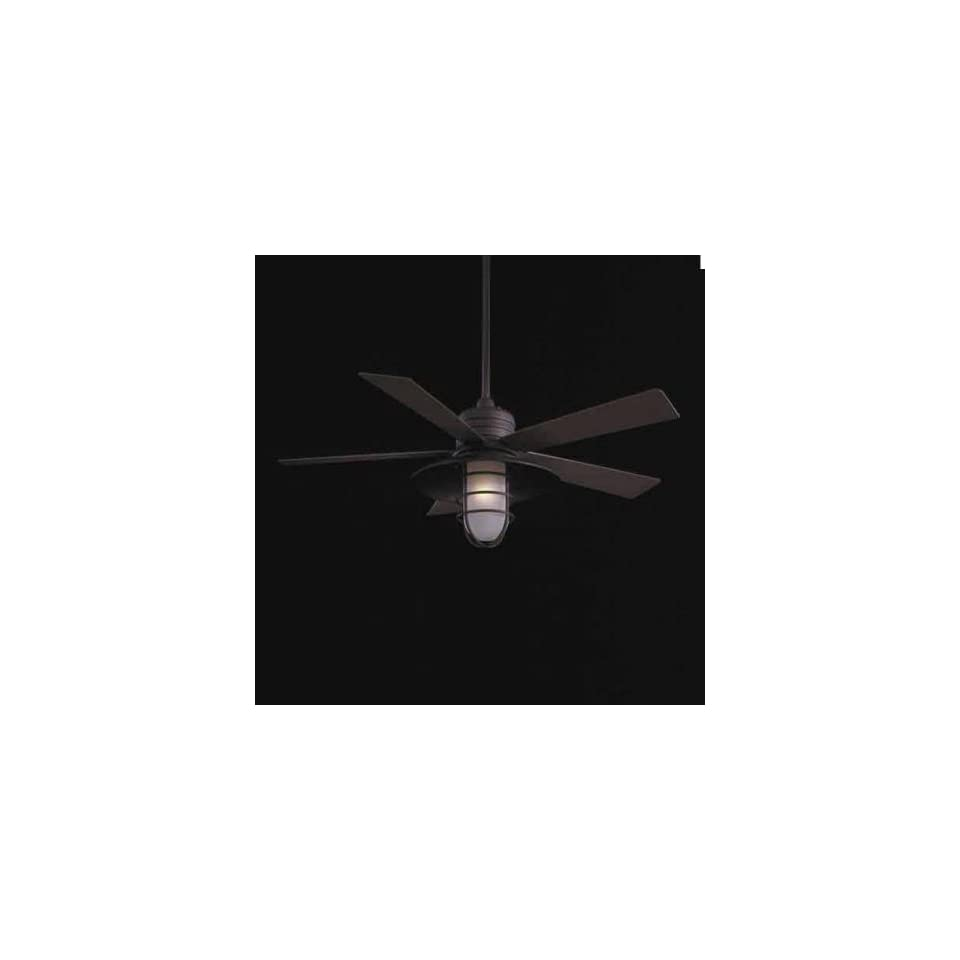 Minka Aire Ceiling Fans F582 Minka Aire Rainman Indoor Outdoor Ceiling Fan Brushed Nickel Wet
