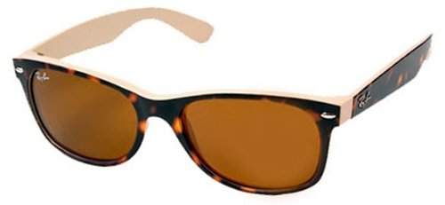 Ray-Ban 2132 6012 Top Havana on Beige Crystal 2132 Wayfarer Wayfarer Sunglasses
