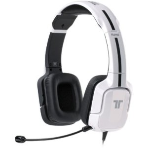 """Mad Catz, Inc - Tritton Kunai Stereo Gaming Headset For Pc, Mac, And Mobile Devices - Stereo - White - Mini-Phone - Wired - 16 Ohm - 20 Hz - 20 Khz - Supra-Aural - 9.84 Ft Cable """"Product Category: Audio Electronics/Headsets/Earsets"""""""