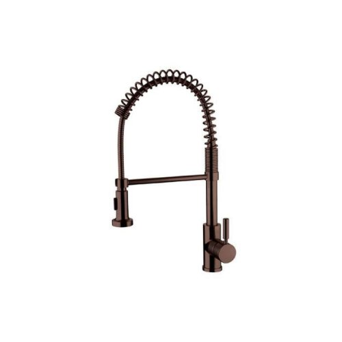 Yosemite Home Decor Yp2814A-Orb Single Handle Spring Pull-Out Kitchen Faucet, Oil Rubbed Bronze front-364871