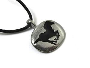 Horse Spirit Guide Pewter Pendant, Inner Power, Grounding, Safe Travel, Freedom, Speed, Grace, and Strength