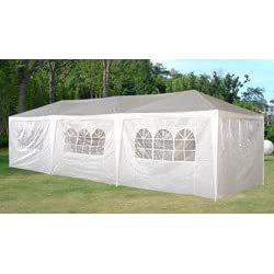 10 x 30 White Party Tent Gazebo Canopy with Sidewalls