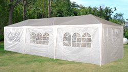 Garden Design : 10 x 30 White Party Tent Gazebo Canopy with Sidewalls
