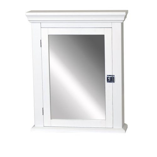 Zenith Products Mc10Ww Early American Mirrored Medicine Cabinet, 22-Inch By 27-Inch, White front-594706