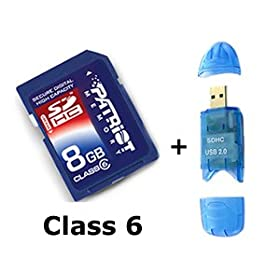 Secure Digital High Capacity 8 GB G GIG 8G 8GIG SD HC 8GB SDHC High Speed Class 6 Memory Card for Panasonic HDC-HS200 Camcorder Free Card Reader