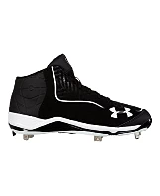 Under Armour Men's UA Ignite Mid ST CC Baseball Cleats 7 Black