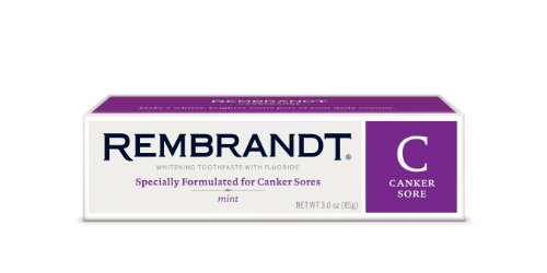 Rembrandt - Premium Whitening Mint Toothpaste with Fluoride, Extra Gentle (For Canker Sore Sufferers) - 3 oz