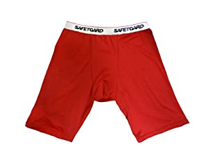 Boys Youth Large Compression Short (Red)