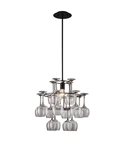 Artistic Lighting Vintage Chandelier, Aged Silver As You See