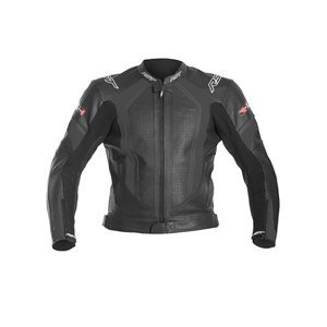 RST R-14 RACE ROAD TOURING MOTORCYCLE MOTORBIKE LEATHER JACKET BLACK SIZE 40 S