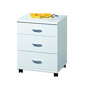 Links  Cassettiera con rotelle Capo 8/13, con 3 cassetti, colore Bianco   recensioni