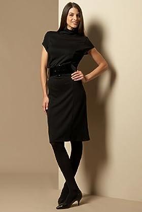 Short Sleeve Belted Polo Neck Dress - Marks & Spencer