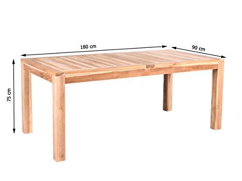 teakholz tisch detroit gartentisch esstisch ca 180 cm com forafrica. Black Bedroom Furniture Sets. Home Design Ideas