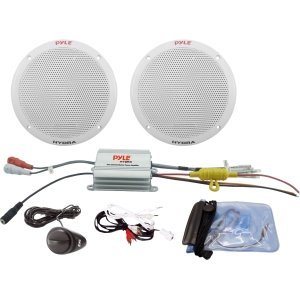 Pyle PLMRKT2A 2-Channel Waterproof MP3/iPod Amplified 6.5-Inch Marine Speaker System by Sound Around