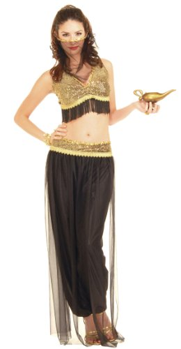Black and Gold Belly Dancer Costume - Womens Std.