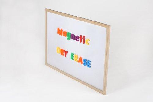 Wood-framed Dry-Erase Magnetic Whiteboard (24 x 36ins)