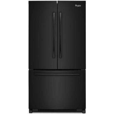 Whirlpool Model # WRF540CWBB 20.0 cu. ft. French Door Refrigerator in Black, Counter Depth (Black Counter Depth Refrigerator compare prices)
