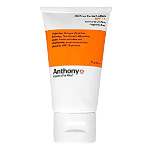 Anthony Logistics For Men Oil Free Facial Lotion SPF 15 2.5 oz from Anthony Logistics for Men