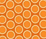 SheetWorld Fitted Sheet (BABYBJÖRN Travel Crib Light) - Primary Bubbles Orange Woven - Made In USA