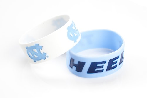 NCAA North Carolina Tar Heels Silicone Rubber Bracelet Set, 2-Pack at Amazon.com