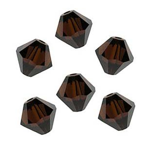 Swarovski Crystal #5301 4mm Bicones Mocca Brown (50)