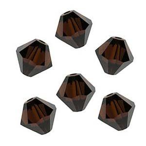 Swarovski Crystal #5301 4mm Bicones Mocca Brown (50)