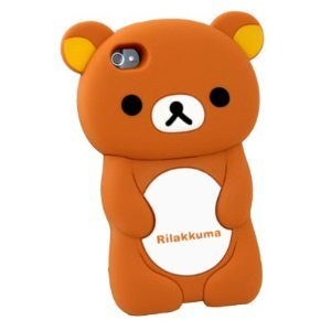 3d Brown Rilakkuma Bear Silicon Case Cover for