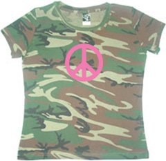 Green Woodland Women's Camouflage T-Shirt – Pink Peace Code V