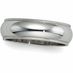 02.50 MM Milgrain Wedding Band in Platinum (Finger Size 8.5), FREE 2-Day Shipping.