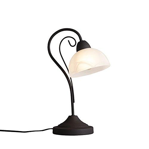 qazqa-classique-antique-rustique-lampe-de-table-dallas-1-rouille-verre-metal-rond-oblongue-compatibl