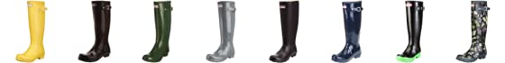 Hunter Women's Original Gloss Wellies Graphite W23616 6 UK