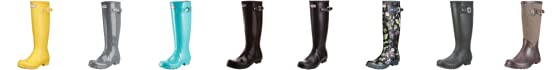 Hunter Women's Original Gloss Wellies Graphite W23616 5 UK