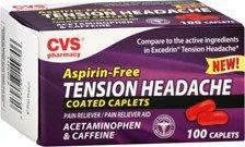Cvs Aspirin Free Tension Headache Pain Reliever Pain Reliever Aid